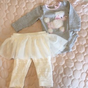 Baby Girl Poodle and Tutu Outfit